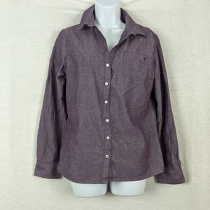 Tommy Hilfiger purple button down shirt